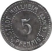 5 Pfennig (Müllheim) [Stadt, Baden] – obverse