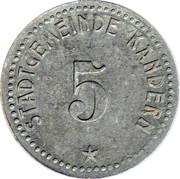 5 Pfennig (Kandern) [Stadt, Baden] – obverse