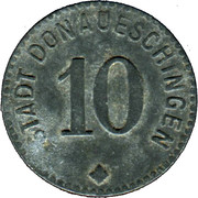 10 Pfennig (Donaueschingen) [Stadt, Baden] – obverse