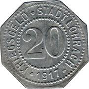 20 Pfennig (Lörrach) [Stadt, Baden] – obverse
