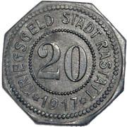 20 Pfennig (Rastatt) [Stadt, Baden] – obverse