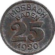 25 Pfennig (Mosbach) [Stadt, Baden] – reverse