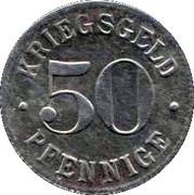 50 Pfennige (Heidelberg) [Stadt, Baden] – reverse