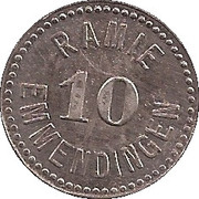 10 Pfennig (Emmendingen) [Private, Baden, Spinnerei Ramie] – obverse
