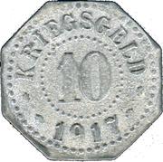 10 Pfennig - Donauschingen – reverse