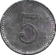 5 Pfennig (Leipheim) [Stadt, Bayern] – reverse