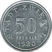 50 Pfennig (Zwiesel) [Stadt, Bayern] – obverse