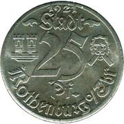 25 Pfennig (Rothenburg ob der Tauber) [Stadt, Bayern] – obverse