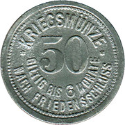 50 Pfennig (Deggendorf) [Stadt, Bayern] – reverse