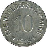10 Pfennig (Hof) [Stadt, Bayern] – reverse