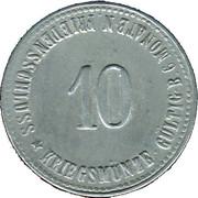 10 Pfennig (Vilsbiburg) [Genossenschaftskasse, Bayern] – reverse