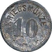 10 Pfennig (Höchstädt a.D.) [Stadt, Bayern] -  reverse