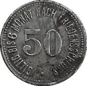 50 Pfennig (Bogen) [Kommunalverband, Bayern] – reverse