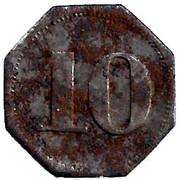 10 Pfennig (Kempten) [Private, Bayern, Mechanische Baumwollspinnerei] – reverse