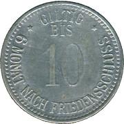 10 Pfennig (Eggenfelden) [Private, Bayern, Distriktsparkasse] – reverse