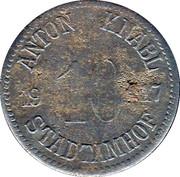 10 Pfennig (Stadtamhof) [Private, Bayern, Anton Knabl] – obverse