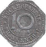 10 Pfennig (Frankenthal) [Private, Bayern, Zuckerfabrik Frankenthal] – reverse