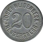 20 Pfennig (Hengersberg) [Private, Bayern, Josef Weidenbeck] – obverse