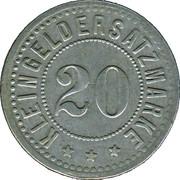 20 Pfennig (Hengersberg) [Private, Bayern, Josef Weidenbeck] – reverse