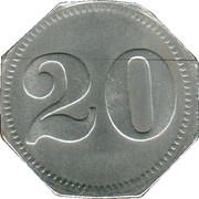 20 Pfennig (Kempten) [Private, Bayern, Mechanische Baumwollspinnerei] – reverse