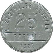 25 Pfennig (Elsenthal) [Private, Bayern, Papierfabrik Grafenau] – reverse