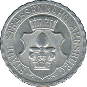 50 Pfennig (Augsburg) [Strassenbahn, Bayern] – obverse