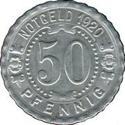 50 Pfennig (Augsburg) [Strassenbahn, Bayern] – reverse