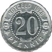 20 Pfennig (Augsburg) [Strassenbahn, Bayern] – reverse