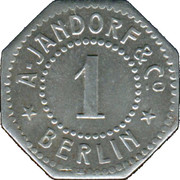 1 Pfennig (Berlin) [Private, Brandenburg, A. Jandorf & Co.] – obverse