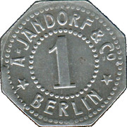 1 Pfennig (Berlin) [Private, Brandenburg, A. Jandorf & Co.] – reverse