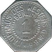 1 Pfennig (Berlin) [Private, Brandenburg, Kaufhaus des Westens G.M.B.H.] – obverse