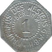 1 Pfennig (Berlin) [Private, Brandenburg, Kaufhaus des Westens G.M.B.H.] – reverse