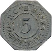 5 Pfennig (Annahütte) [Private, Brandenburg, Th. Heye Braunkohlenwerke] – obverse