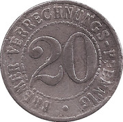 20 Verrechnungs-Pfennig (Bremen) [Freie Hansestadt, Bremen] – reverse