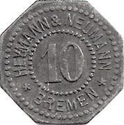 10 Pfennig (Bremen) [Private, Bremen, Heymann & Neumann] – obverse