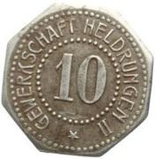 10 Pfennig (Heldrungen)[Private, Provinz Sachsen, Gewerkschaft Heldrungen II] -  obverse