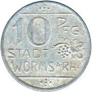 10 Pfennig (Worms) [Stadt, Hessen] – obverse