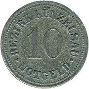 10 Pfennig (Künzelsau) [Bezirk, Württemberg] – obverse