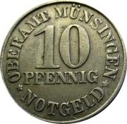 10 Pfennig (Münsingen) [Oberamt, Württemberg] – obverse