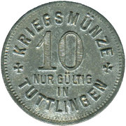 10 Pfennig (Tuttlingen) [Stadt, Württemberg] – reverse