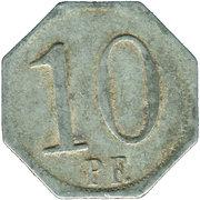 10 Pfennig (Wasseralfingen) [Stadt, Württemberg] – reverse
