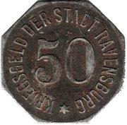 50 Pfennig (Ravensburg) [Oberamtsstadt, Württemberg] – reverse