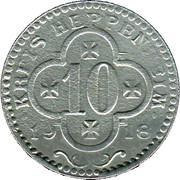 10 Pfennig (Heppenheim) [Kreis, Hessen] – obverse