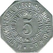 5 Pfennig (Gustavsburg) (Private, Hessen, Maschinenfabrik Augsburg-Nürnberg] – obverse