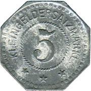 5 Pfennig (Gustavsburg) (Private, Hessen, Maschinenfabrik Augsburg-Nürnberg] – reverse