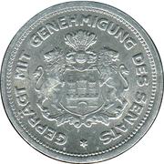 1/100 Verrechnungsmarke (Hamburg) [Private, Hamburgische Bank A.G.) – reverse