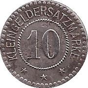 10 Pfennig (Melsungen) [Stadt, Hessen-Nassau] – reverse