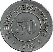50 Pfennig (Hersfeld) [Stadt, Hessen-Nassau] – reverse