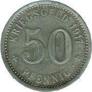 50 Pfennig (Menden) [Stadt, Westfalen] – reverse