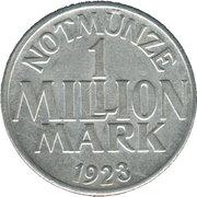 1 Million Mark (Menden) [Stadt, Westfalen] – reverse
